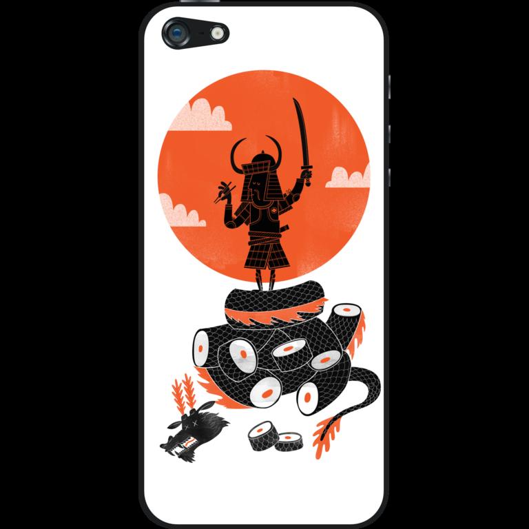 Skin di iPhone Samurai Sushi