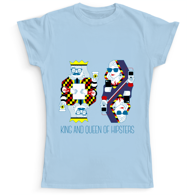 king and queen of hipster ismug Camaloon T-shirt