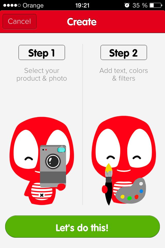 Create with Camaloon iOS App
