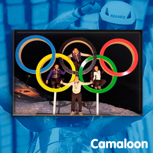 Camaloon badges Bobsleigh Team France Sochi