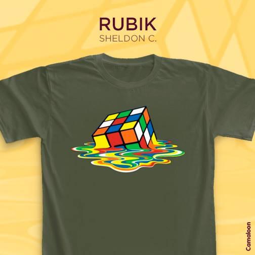Camisetas big bang theory cubo rubik desecho sheldon cooper comprar españa