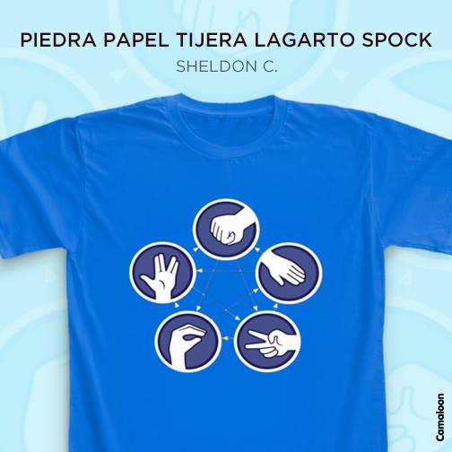 piedra papel tijera lagarto spock sheldon cooper camisetas the big bang theory comprar
