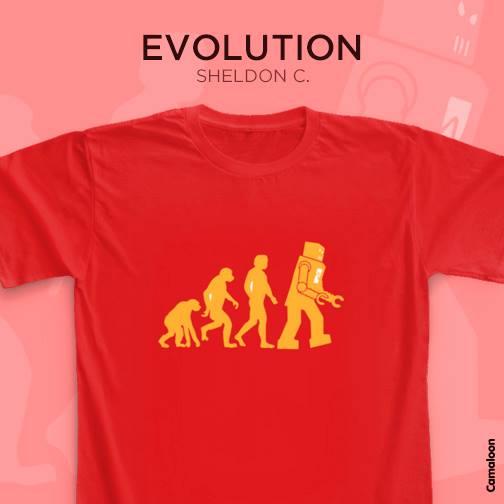 camisetas shledon cooper big bang theory evolution