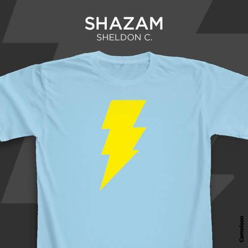 camisetas big bang theory shazam sheldon cooper comprar españa madrid barcelona