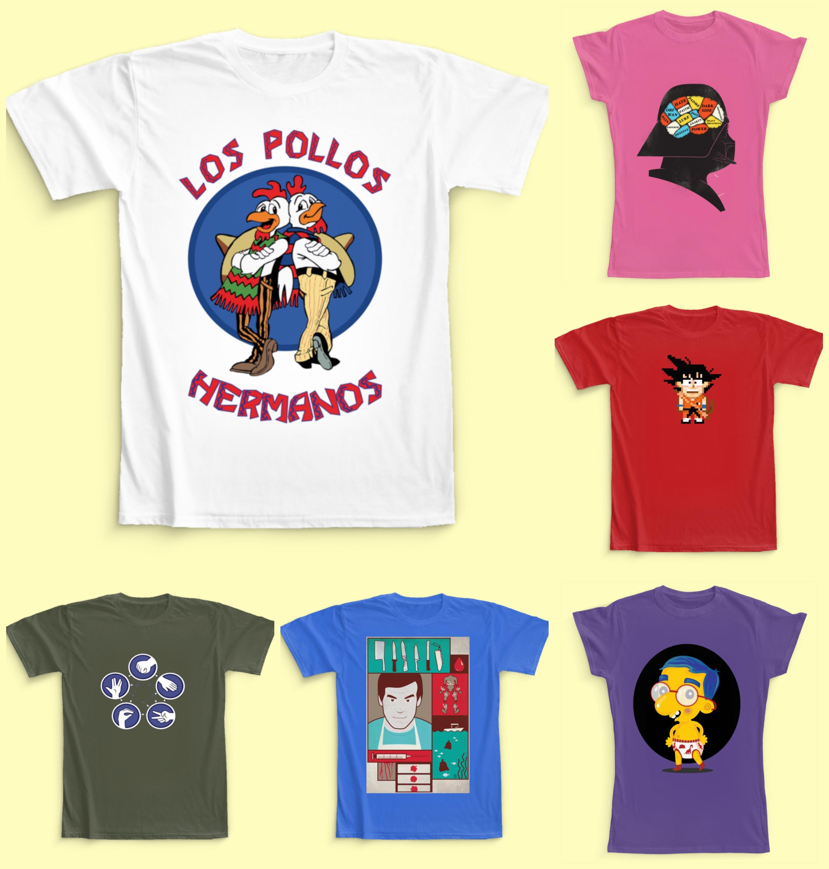 T-shirts de films et séries Camaloon