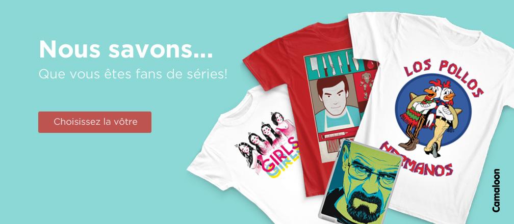 T-shirts Camaloon films et séries