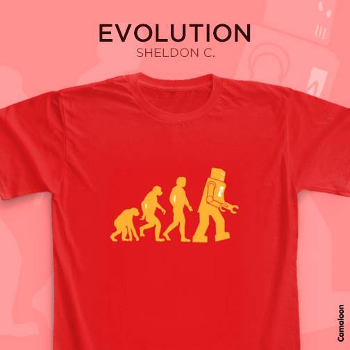 Evolution The Big Bang Theory Camaloon T-shirts