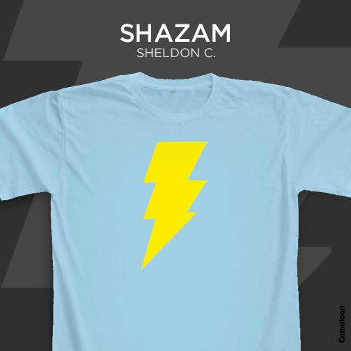 Shazam The Big Bang Theory Camaloon T-shirts