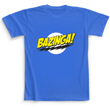 Bazinga The Big Bang Theory Camaloon T-shirts