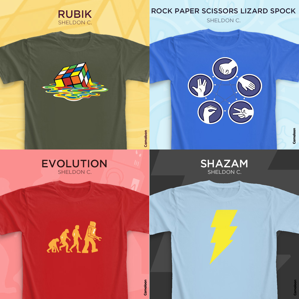 Camaloon T-shirts The Big Bang Theory