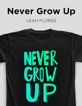"T-shirt Camaloon ""Never grow up"""