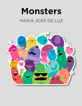 "Sticker Camaloon ""Monsters"""