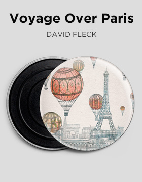 Voyage over Paris David Fleck dalla galleria di Camaloon