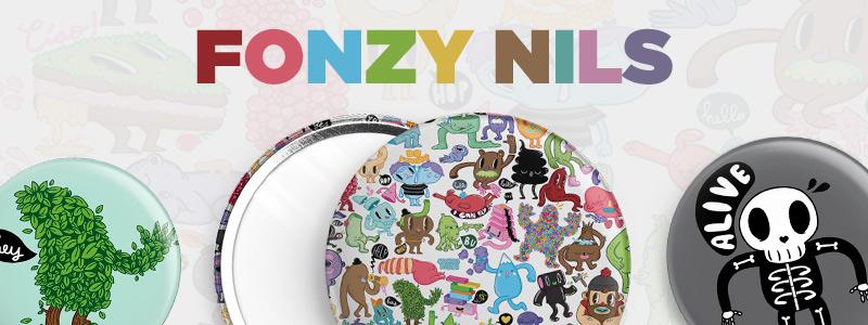 fonzy nils, ilustraciones, animacion, personajes divertidos, comics,