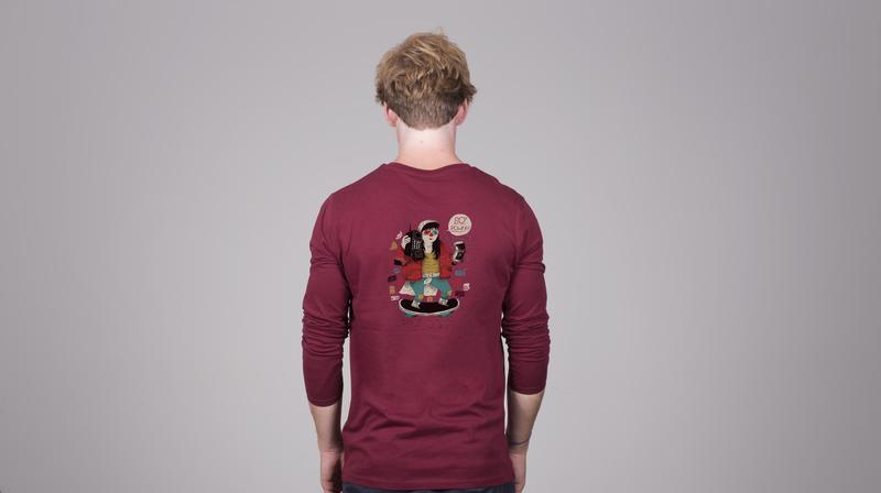 Personaliza camisetas por detrás